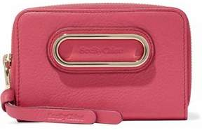 See by Chloe Small Paige Embellished Textured-Leather Wallet