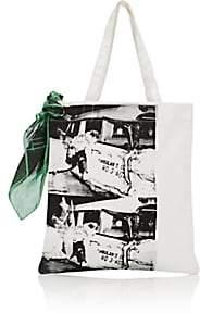 Calvin Klein Women's Graphic Canvas Tote Bag - White