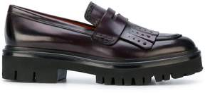 Santoni chunky sole loafers