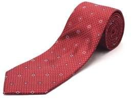 Luciano Barbera Men's Slim Silk Neck Tie Crimson Red.