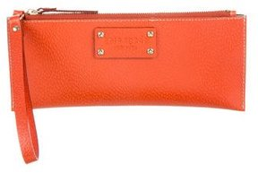 Kate Spade Leather Wristlet Pouch - ORANGE - STYLE