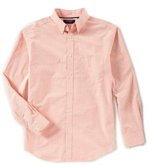 Roundtree & Yorke Trademark Big & Tall Long-Sleeve Gingham Sportshirt