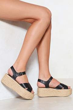 Nasty Gal Build You Up Platform Sandal