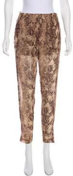 Enza Costa High-Rise Straight-Leg Pants