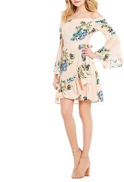 Astr Ophelia Off the Shoulder Bell Sleeve Dress