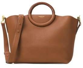 Michael Kors Skorpios Leather Market Bag - LUGGAGE - STYLE
