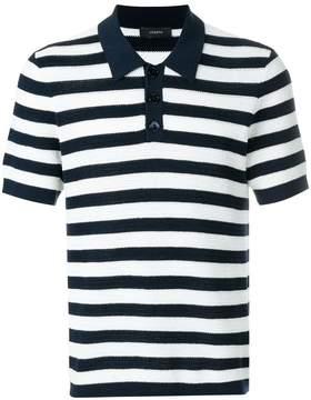 Joseph knit striped polo shirt