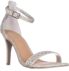 Material Girl Mg35 Blaire Ankle Strap Dress Heel Sandals, Silver.
