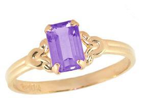 Ice 10K Gold Girls' February Birthstone Ring (Size 4)