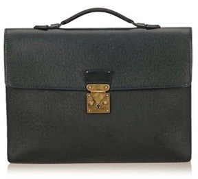 Louis Vuitton Pre-owned: Taiga Serviette Kourad Briefcase. - GREEN - STYLE