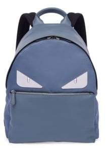 Fendi Monster Leather& Tech-Twill Backpack