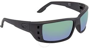 Costa del Mar Permit X-Large Fit Green Mirror Glass Rectangular Sunglasses