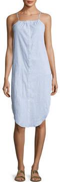 Onia Flora Sleeveless Button-Front Cotton Coverup Shirtdress