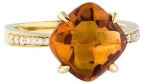 Frederic Sage Jelly Bean Citrine & Diamond Cocktail Ring