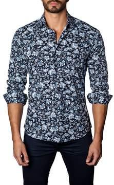 Jared Lang Floral Trim Fit Shirt