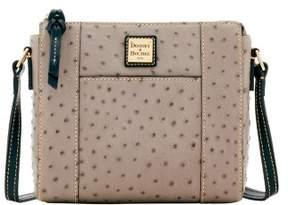 Dooney & Bourke Ostrich Lexington Crossbody Shoulder Bag - GREY - STYLE