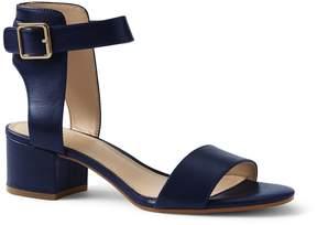 Lands' End Lands'end Women's Wide Heeled Ankle Strap Sandals