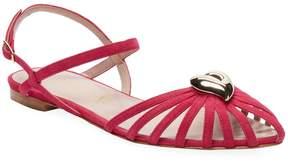 Aperlaï Women's Leather Strap Sandals