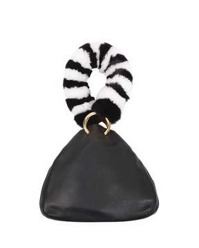 Les Petits Joueurs Holly Leather Fur-Handle Bag