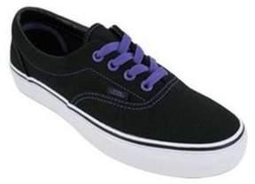 Vans Unisex Era Lo-canvas Skate Sneakers blackpassionflower M3.5 W5