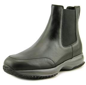 Hogan Interctive Stiv Aletto Elastico Round Toe Leather Boot.