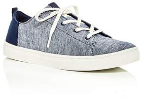 Toms Boys' Lenny Chambray Lace Up Sneakers - Toddler, Little Kid, Big Kid