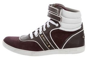 Sergio Rossi Suede High-Top Sneakers