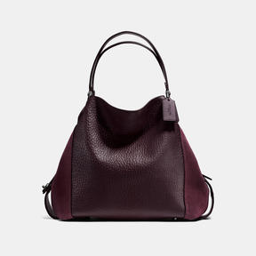 COACH Coach Edie Shoulder Bag 42 - DARK GUNMETAL/OXBLOOD - STYLE