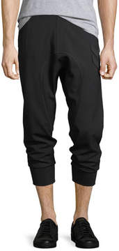 Neil Barrett Drop-Crotch Jogger Pants w/ Military Patches