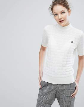 Fred Perry High Neck Houndstooth Sweater