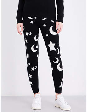 Chinti and Parker Midnight Sky skinny cashmere jogging bottoms
