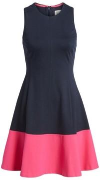 Eliza J Women's Colorblock Hem Fit & Flare Dress