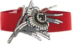 No.21 NO. 21 Crystal-embellished waist belt