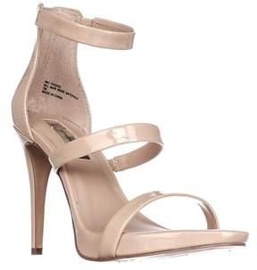 INC International Concepts I35 Sadiee Strappy Dress Sandals, Summder Nude.