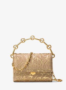 Michael Kors Yasmeen Small Rose Jacquard Clutch - GOLD - STYLE
