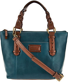 Tignanello As IsVintage Leather RFID Mini Tote with Braided Handles