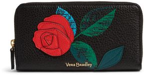 Vera Bradley RFID Georgia Wallet - SYCAMORE RED HAVANA ROSE - STYLE