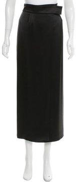 Emporio Armani Satin Midi Skirt