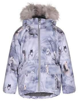 Molo Cathy Horse Jacket w/ Faux-Fur Trim, Size 4-10