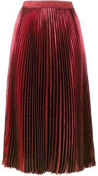 Christopher Kane high waisted pleated metallic skirt