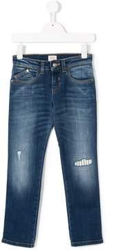 Emporio Armani Kids distressed denim trousers