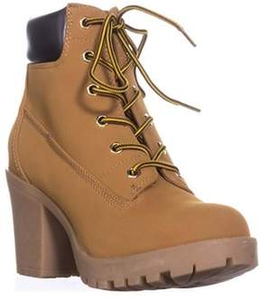 Zigi Soho Kiana Lug Sole Combat Boots, Wheat/brown.