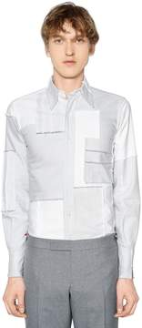 Thom Browne Patchwork Embroidery Cotton Oxford Shirt