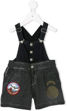 Diesel patch dungarees