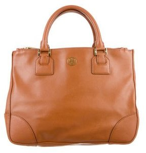 Tory Burch Robinson Double Zip Tote - BROWN - STYLE