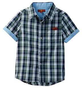 7 For All Mankind Woven Short Sleeve Shirt (Little Boys)