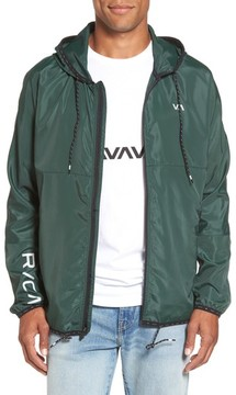 RVCA Men's Hexstop Ii Water Repellent Hooded Jacket