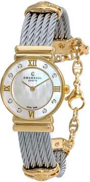 Charriol St Tropez Mother of Pearl Diamond Ladies Watch 028YD1540552