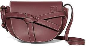 Loewe Gate Mini Leather Shoulder Bag - Burgundy