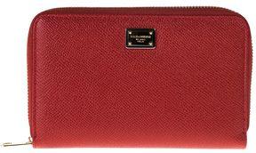 Dolce & Gabbana Zip Around Leather Wallet Medium - RED - STYLE